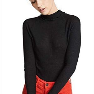 Free People Thermal Turtleneck Make It Easy Small